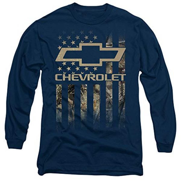 Trevco Graphic Tshirt 1 Chevrolet Camo Flag Unisex Adult Long-Sleeve T Shirt for Men and Women
