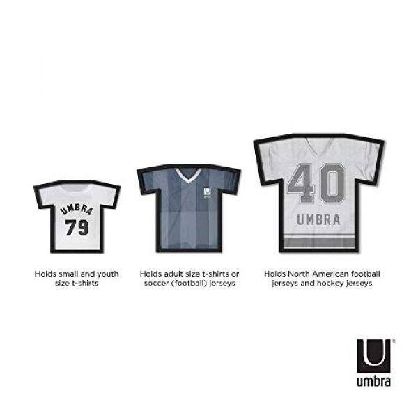 Umbra Graphic Tshirt 6 Umbra T-frame Unique Display Case to Showcase Adult Sized T-Shirts (Small to Large), Medium, Black