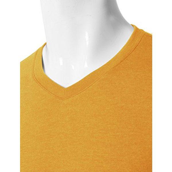 H2H Graphic Tshirt 4 Mens Casual Slim Fit Long Sleeve V-Neck T-Shirts