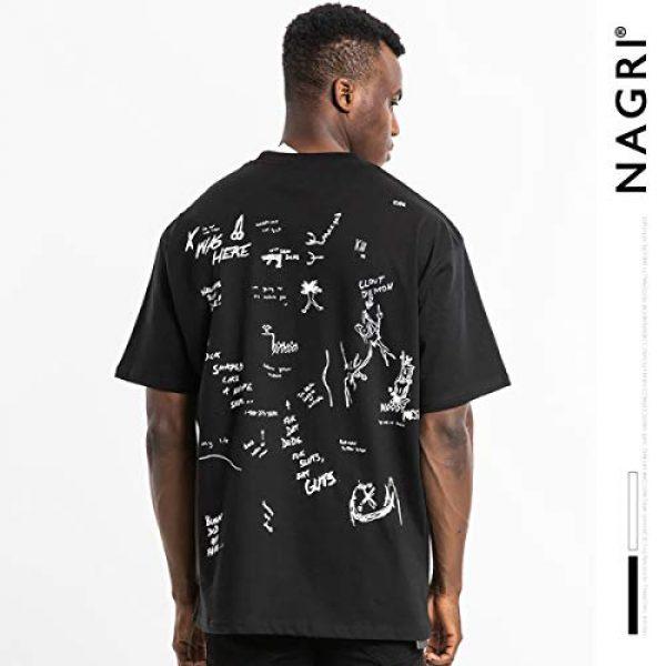 NAGRI Graphic Tshirt 4 Men's Gengar Vintage T Shirt Don't Kill Hip-Hop Graphic Printing Rap Music Tee White Black