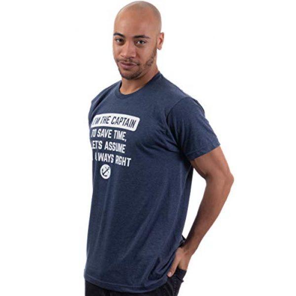 Ann Arbor T-shirt Co. Graphic Tshirt 3 I'm The Captain, Assume I'm Right | Funny Boating Nautical Joke Boat Humor T-Shirt for Men Women