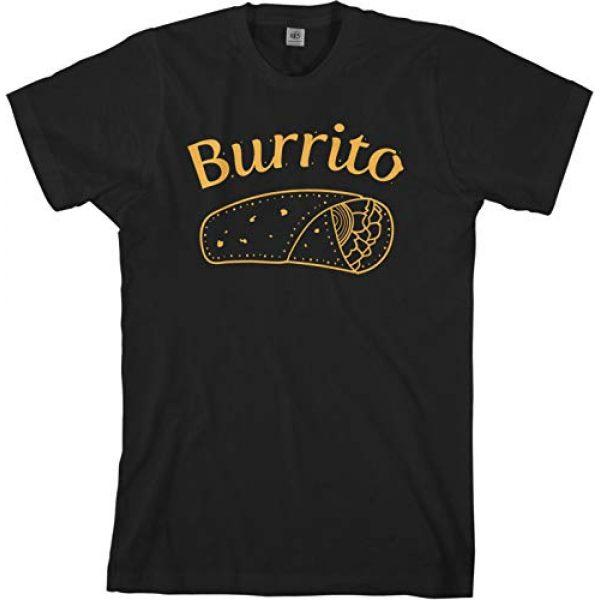 Threadrock Graphic Tshirt 3 Burrito Taco Taquito | Dad Mom Baby Matching Family Shirts Set