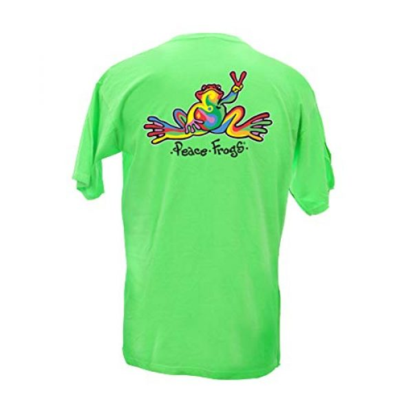 Peace Frogs Graphic Tshirt 1 Retro Frog Adult Short Sleeve T-Shirt