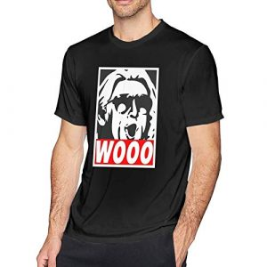 Vireieud Graphic Tshirt 1 Wooo-Wrestling Nature Boy RIC Flair Men Short Sleeve Cotton Blouse Tops