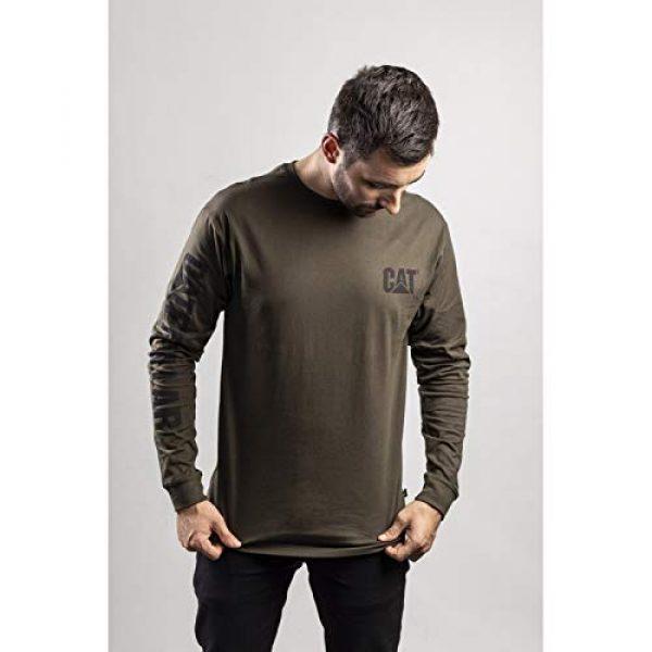 Caterpillar Graphic Tshirt 3 Men's Trademark Banner Long Sleeve T-Shirt
