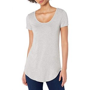 Daily Ritual Graphic Tshirt 1 Amazon Brand - Daily Ritual Women's Jersey Short-Sleeve Scoop-Neck Longline T-Shirt