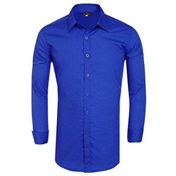 PJ PAUL JONES Graphic Tshirt 6 Paul Jones Men's Long Sleeves Button Down Dress Shirts