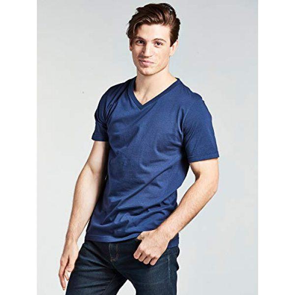 Bolter Graphic Tshirt 2 4 Pack Men's Everyday Cotton Blend V Neck Short Sleeve T Shirt