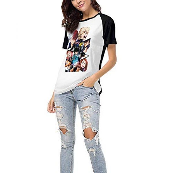 Vireieud Graphic Tshirt 6 Women's My Hero Academia Top Fashion Polyester Raglan Short Sleeve Baseball T Shirts