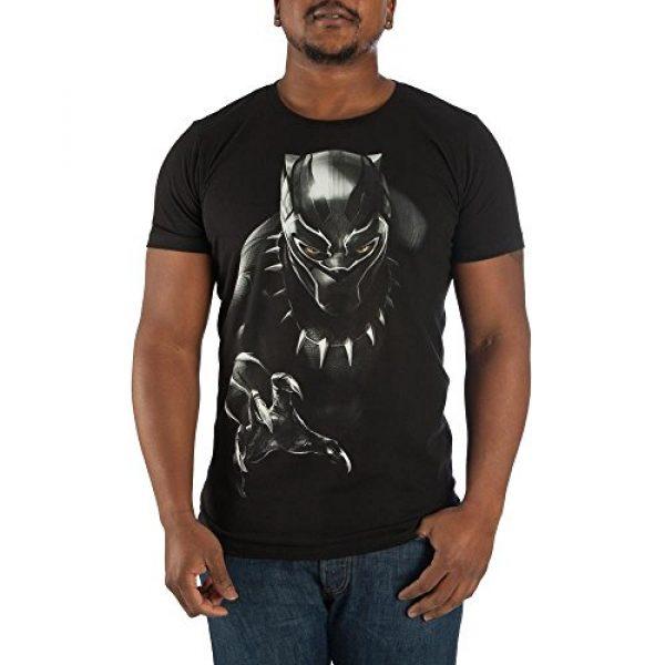 Marvel Graphic Tshirt 1 Black Panther Mens Black T-Shirt