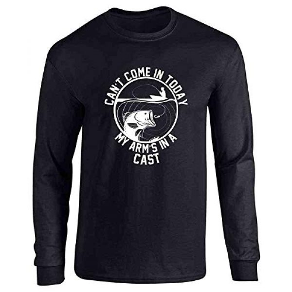 Pop Threads Graphic Tshirt 1 Fishing Reel Cool Funny Fisherman Rather Be Fing Full Long Sleeve Tee T-Shirt