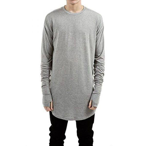 LILBETTER Graphic Tshirt 1 Mens Thumb Hole Cuffs Long Sleeve T-Shirt Basic Tee