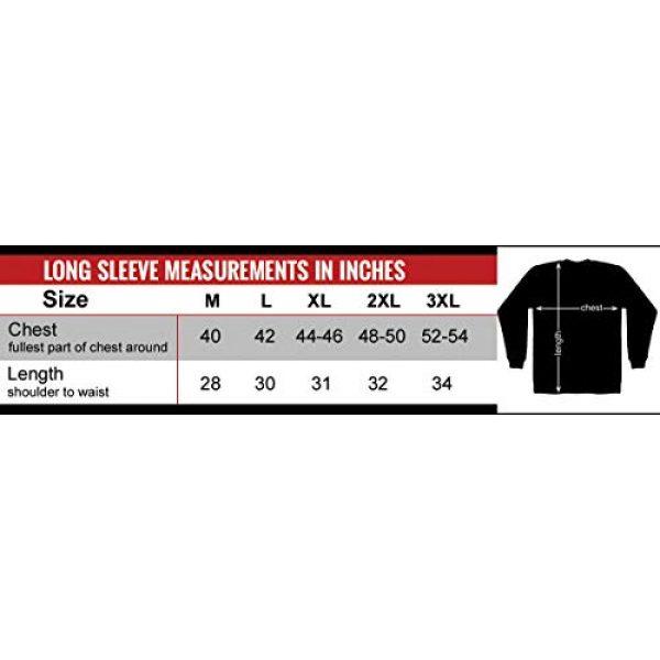 Hot Leathers Graphic Tshirt 2 Hot Leathers Assassin Double Sided Long Sleeve T-Shirt (Black, Medium)