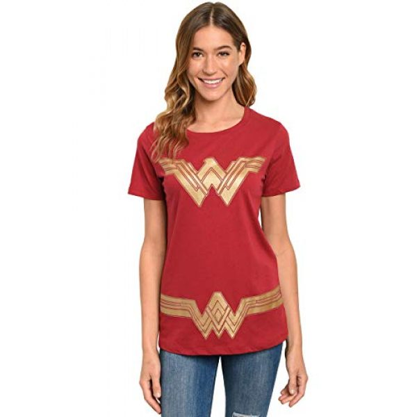 DC Comics Graphic Tshirt 1 Wonder Woman Womens T-Shirt - Dark Red - Costume Graphic Print
