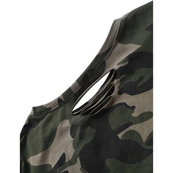 SweatyRocks Graphic Tshirt 7 Women's Tshirt Long Sleeve Distressed Crop T-Shirt Top