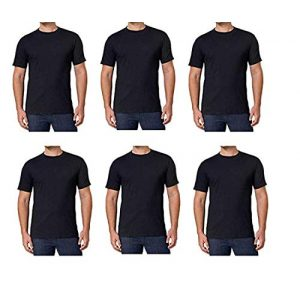 Unknown Graphic Tshirt 1 Kirkland Signature Men's Crew Neck T Shirts 6 Pack Black 100% Combed Cotton Tagless Soft and Comfortable T-Shirts