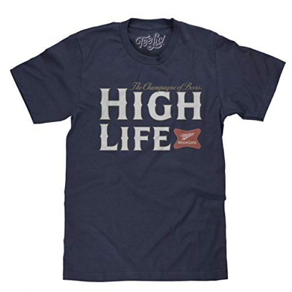 Tee Luv Graphic Tshirt 1 Miller High Life Shirt - Miller Champagne of Beers Logo T-Shirt