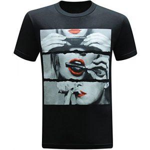 tees geek Graphic Tshirt 1 Roll It Lick It Smoke It Marijuana Pot Weed Men's T-Shirt
