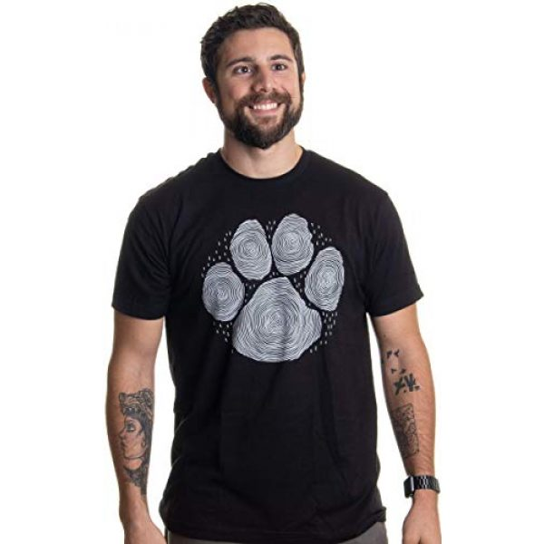 Ann Arbor T-shirt Co. Graphic Tshirt 2 Paw Print Line Art   Artistic Illustration Nature Men Women Dog Cat Cool T-Shirt