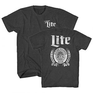 Miller Lite Graphic Tshirt 1 Classic Beer Logo Drink Funny Halloween Costume Vintage Logo Men's Adult Graphic Tee T-Shirt
