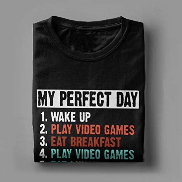 CHAMPRINT Graphic Tshirt 4 My Perfect Day Funny T Shirt Video Games Gamer Gift Tees Tops for Men