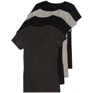 Zenana Outfitters Graphic Tshirt 1 4 Pack Zenana Women's Basic V-Neck T-Shirts