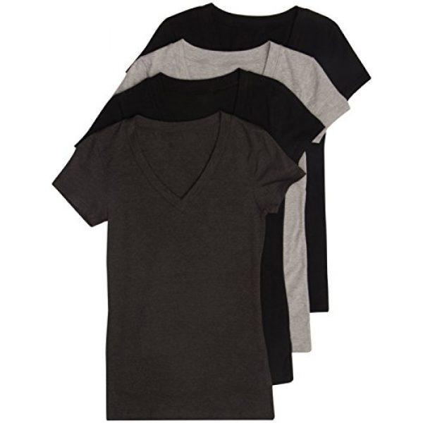 Zenana Outfitters Graphic Tshirt 1 4 Pack Zenana Women's Basic V-Neck T-Shirts