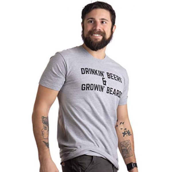Ann Arbor T-shirt Co. Graphic Tshirt 3 Drinkin' Beers & Growing Beards | Funny Drinking Buddies Beer Games Party T-Shirt
