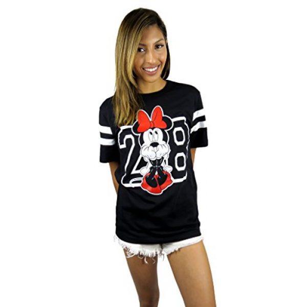 Disney Graphic Tshirt 6 Womens Minnie Mouse Varsity Football Tee