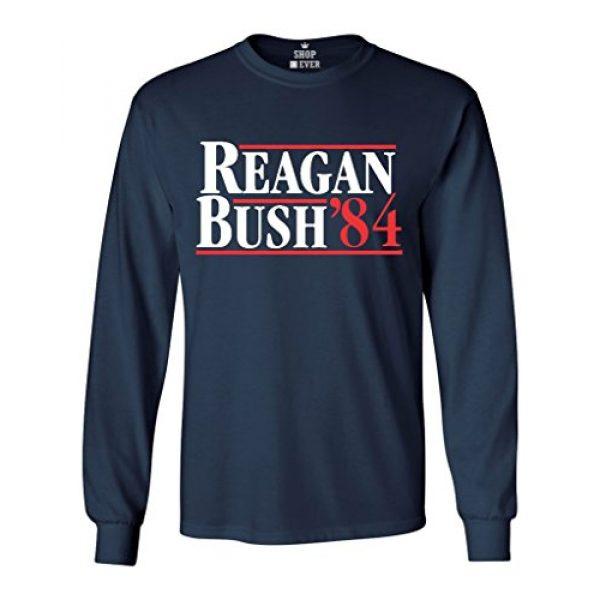 Shop4Ever Graphic Tshirt 1 Reagan Bush 84 Long Sleeve Shirt Presidential Campaign Shirts