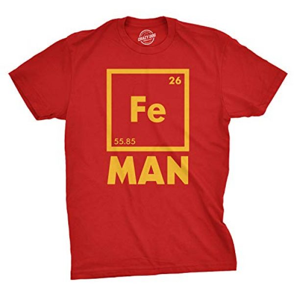 Crazy Dog T-Shirts Graphic Tshirt 1 Mens Iron Man Science T Shirt Cool Novelty Funny Nerdy Graphic Print Tee Guys