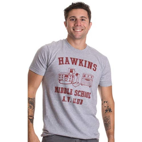Ann Arbor T-shirt Co. Graphic Tshirt 2 Hawkins Middle School A.V. Club   Vintage Style 80s Costume AV Hawkin T-Shirt