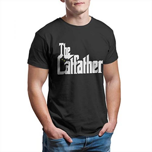 VWMYQ Graphic Tshirt 4 Mens The Cat Father Novelty T-Shirt Cat and Owner Matching Tees for Men