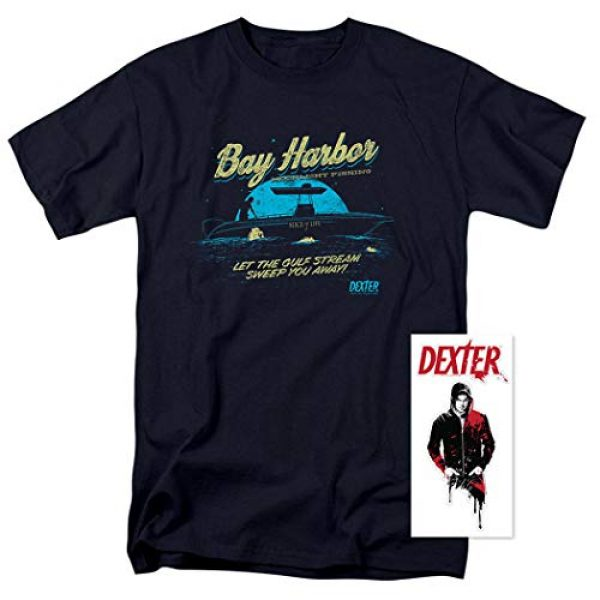 Popfunk Graphic Tshirt 2 Dexter Bay Harbour Moonlight Fishing T Shirt & Stickers