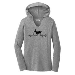 Comical Shirt Graphic Tshirt 1 Ladies Goat Heartbeat Hoodie Shirt