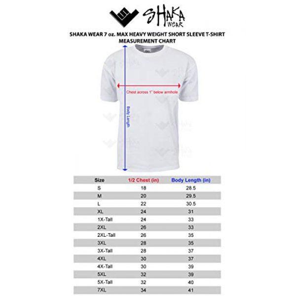 Shaka Wear Graphic Tshirt 4 Men's T Shirt - Max Heavyweight Cotton Short Sleeve Crew Neck Plain Tee Top Tshirts Regular Big Tall Size S-7XL