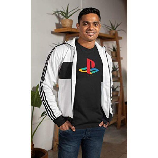 Ripple Junction Graphic Tshirt 4 Playstation Logo Adult T-Shirt