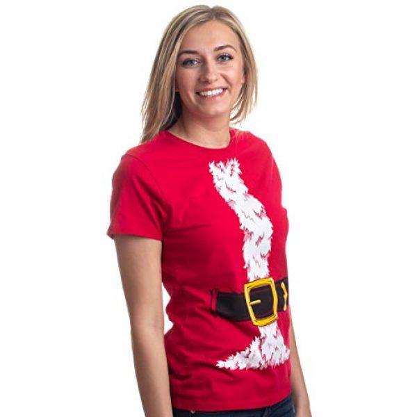 Ann Arbor T-shirt Co. Graphic Tshirt 2 Santa Claus Costume | Jumbo Print Novelty Christmas Holiday Humor Ladies T-Shirt