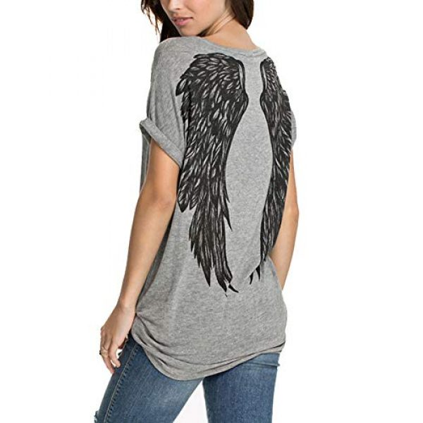 FV RELAY Graphic Tshirt 1 Womens Casual Angel Wings Short Sleeve Plus Size T Shirts Summer Tops Tee