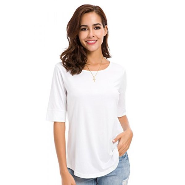 MSHING Graphic Tshirt 3 Women's Summer Casual Loose Fitting Tops Simple Crew Neck Plain Half Sleeve T-Shirt