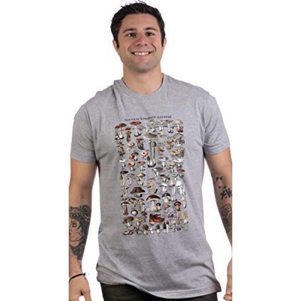Ann Arbor T-shirt Co. Graphic Tshirt 2 Vintage Mushrooms Illustration   Morel Hunter Shroom Nature Art Men Women T-Shirt