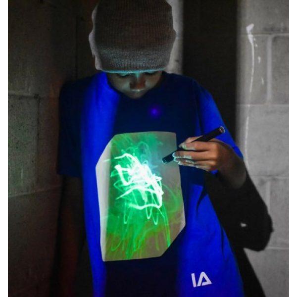 Illuminated Apparel Graphic Tshirt 5 Interactive Glow in The Dark T-Shirt - Fun for Birthday Parties & Festivals