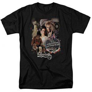 Popfunk Graphic Tshirt 1 Labyrinth Movie Goblin King David Bowie T Shirt & Stickers