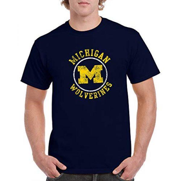 UGP Campus Apparel Graphic Tshirt 4 NCAA Distressed Circle Logo, Team Color T Shirt, College, University