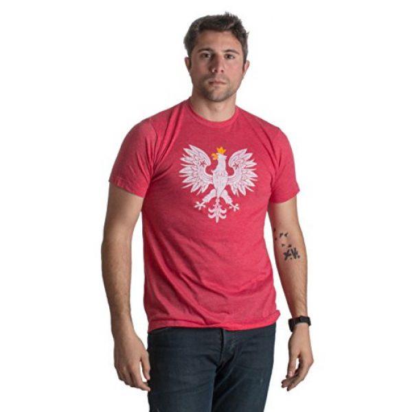 Ann Arbor T-shirt Co. Graphic Tshirt 3 Poland Pride | Vintage Style, Retro-Feel Polish Eagle Polska Unisex T-Shirt