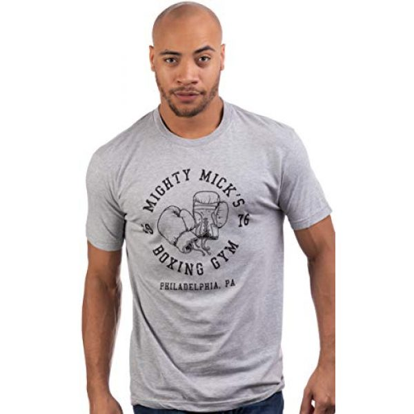 Ann Arbor T-shirt Co. Graphic Tshirt 2 Mighty Mick's Boxing Gym 1976 | Philadelphia Boxer Vintage Style Gloves T-Shirt