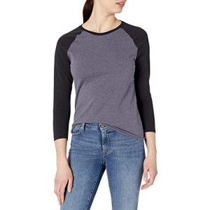 Soffe Graphic Tshirt 1 Women's Heathered Baseball Tee