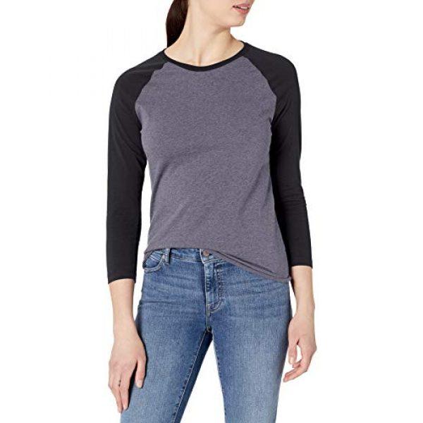 Soffe Graphic Tshirt 1 Women's Heathered Baseball Tee