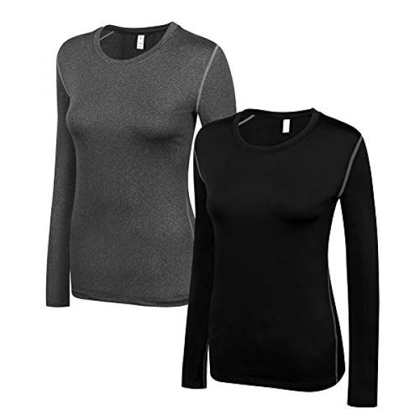 WANAYOU Graphic Tshirt 1 Women's Compression Shirt Dry Fit Long Sleeve Running Athletic T-Shirt Workout Tops