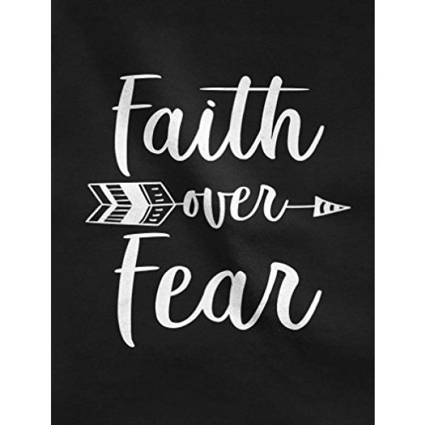 Tstars Graphic Tshirt 2 Faith Over Fear Christian Fashion Gifts 3/4 Women Sleeve Baseball Jersey Shirt